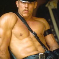 Colt Thomas, in leather.