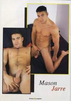 Mason Jarr, Blueboy, January 1998. Photo credit All Worlds Video.