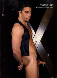 Mason Jarr, Indulge for Men, July 2001. Photo credit All Worlds Video.